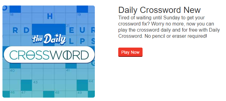 Play Crossword   Puzzles USA Today